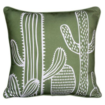 Cojín Cactus Terraza 45x45cm Verde