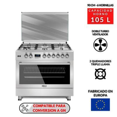 Cocina a Gas 6 Quemadores F9S60GF-SS