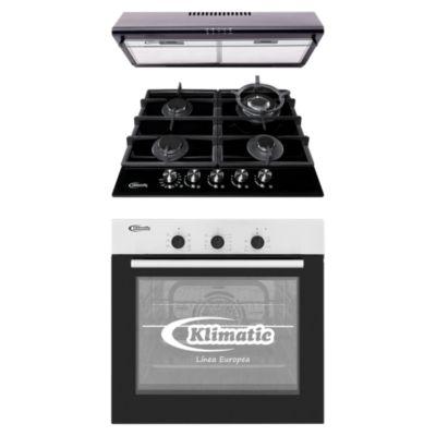Tricombo Cocina Empotrable Trevi 60 Pro + Horno Eléctrico HKT600-PIX + Campana 60cm CK601NE/M
