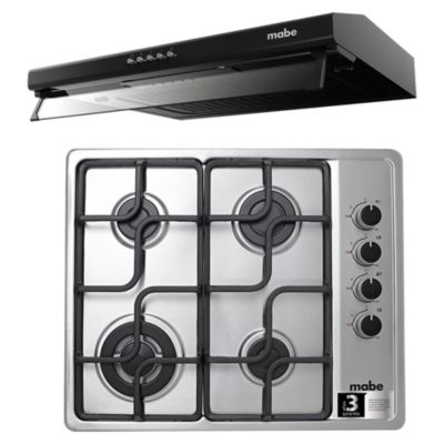 Combo Campana 60cm CMU6020PB0 + Cocina 4 Quemadores CMG6054LC-1PE