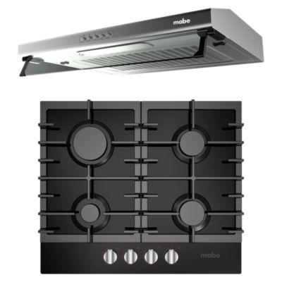 Combo Campana 60cm CMU6020PI0 + Cocina 4 Quemadores CMG6015V0