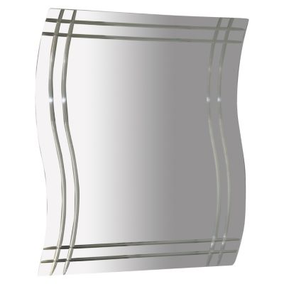 Espejo Curvo Deco Lineal 46x40cm