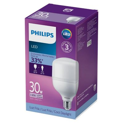 Foco LED Alta Potencia 27w E27 Luz Blanca  2700 lúmenes