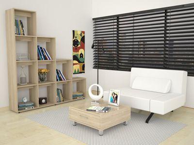Biblioteca Escalera + Mesa de Centro Rovere