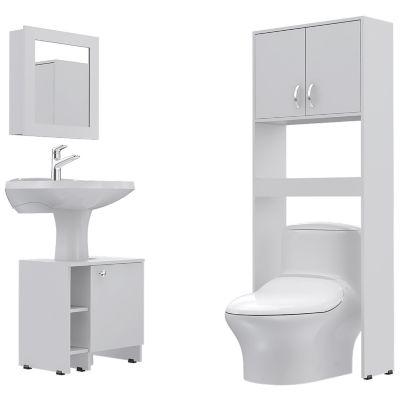 Botiquín Bath 47-B + Optimizadores Lavamanos 47-A + Baño 63-A Blanco