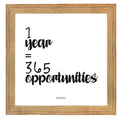 Cuadro 1 Year 365 Opportunities 17x17cm