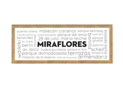Cuadro Miraflores 16x42cm