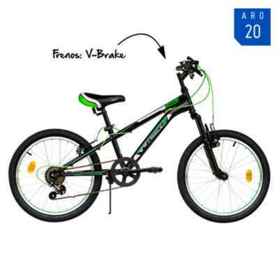 Bicicleta Apolo Aro 20'' Negro/Verde