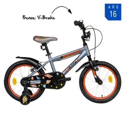 Bicicleta Galax Aro 16'' Gris/Rojo