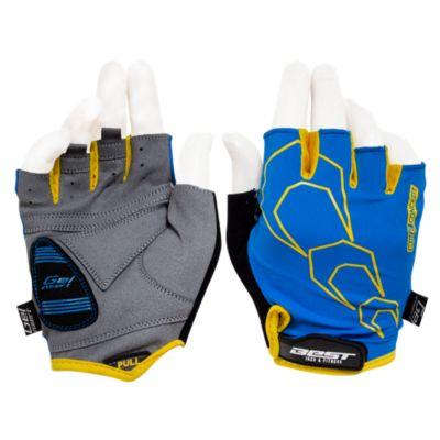 Guante Dedos Cortos Azul/Amarillo Talla XL