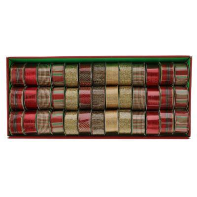 Cintas Navideñas Tradicional 3.8x270cm Surtido