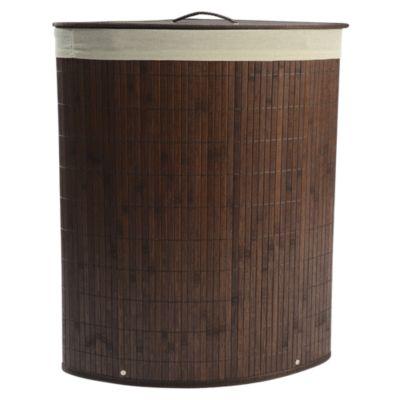 Cesto de Ropa Bambú Chocolate