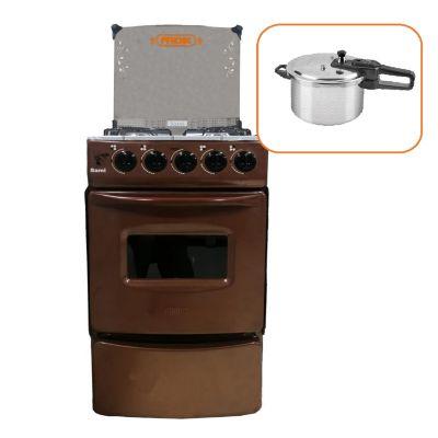 Cocina a Gas 4 Quemadores Cobre + Olla a Presión