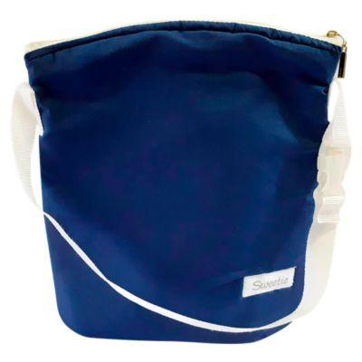 Portabiberón Doble Azul Acero