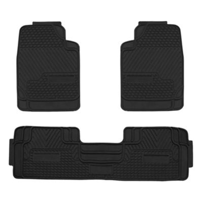 Piso de Auto PVC 3 Piezas Negro