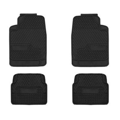 Piso de Auto PVC 4 Piezas Negro