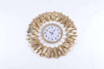 Reloj con Diseño de Hojas Doradas 70cm
