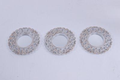 Set 3 Espejos Alegría Blanco
