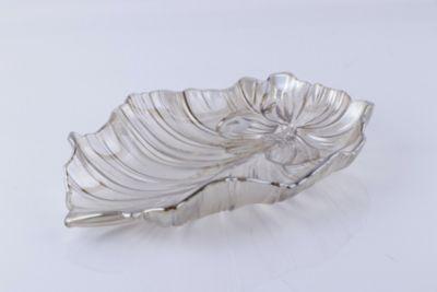 Plato de Vidrio Decorativo Gris Humo