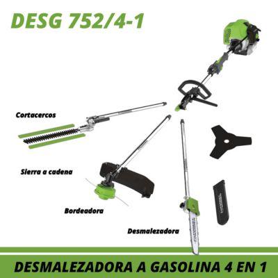 Desmalezadora/Motoguadaña Gas 52CC 2 HP 2T 4 en 1