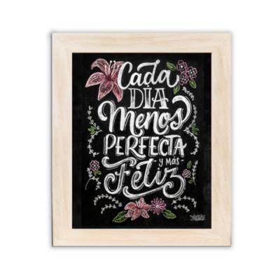 Cuadro Menos Perfecta Blanco Wash Mediano