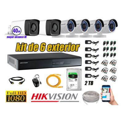 Cámaras de Seguridad Exterior It3F Kit 6 Full HD 1080P + Disco 2TB WD CCTV KIT06-FHD-I2-F080