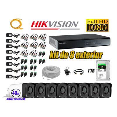 Cámaras de Seguridad Exterior It3F Kit 8 Full HD 1080P + Disco 1TB WD CCTV P2P