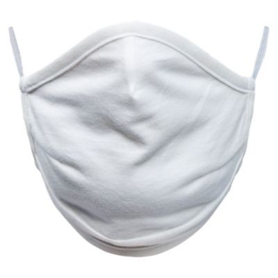 Mascarilla de tela lavable Blanco x5