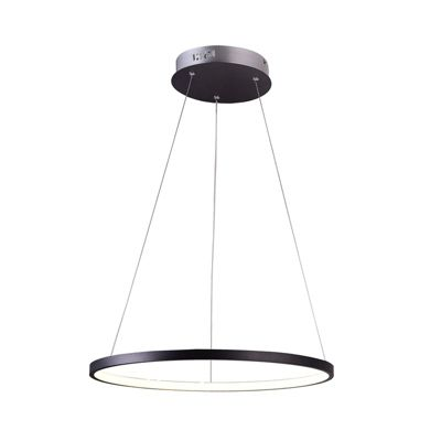 Lámpara Colgante Olimpia Negra 1 Luz Led Luz Amarilla
