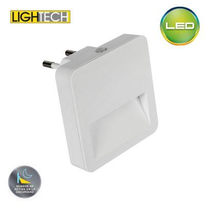 Night Light LED Cuadrado Con Sensor de Luz 0.5w Luz Cálida