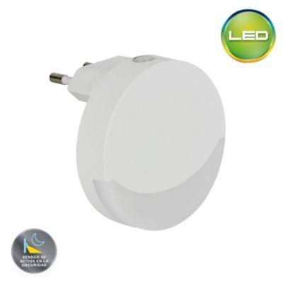 Night Light LED Circular Con Sensor de Luz 0.5w Luz Cálida