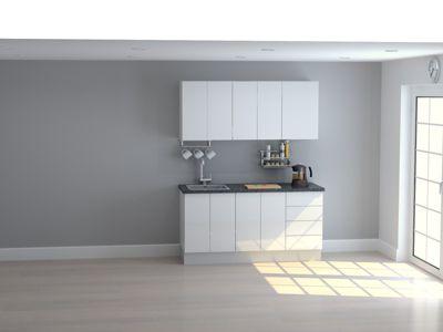 Mueble de Cocina Modular High Gloss 165 Cm Blanco
