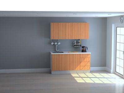 Mueble de Cocina Modular Maderada 165 Cm Cerezo