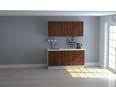 Mueble de Cocina Modular Maderada 165 Cm Gales