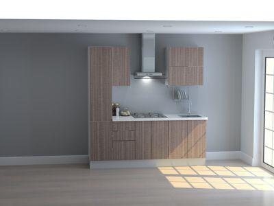 Mueble de Cocina Modular Maderada 210 Cm Olivo