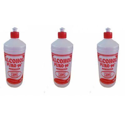 Alcohol Puro 96º para Desinfectar 3 Unidades