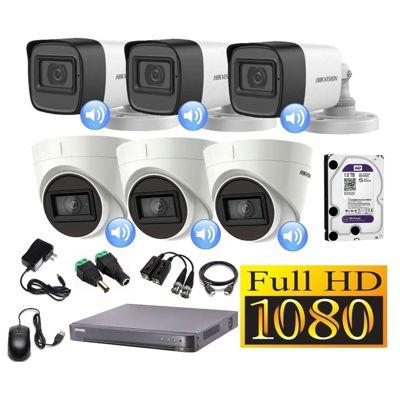 Kit 6 Cámaras Seguridad Full HD + Audio Incorporado 1TB