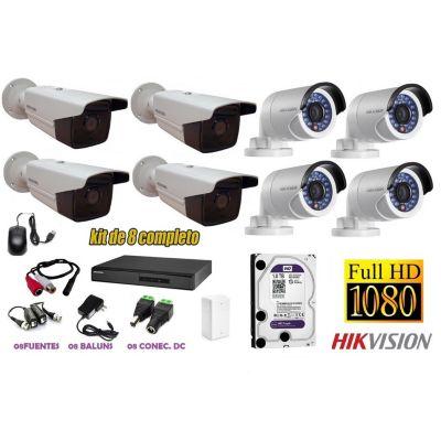 Kit 8 Cámaras de Seguridad Exteriror IT3F Full HD 1TB P2P + Kit Microfono