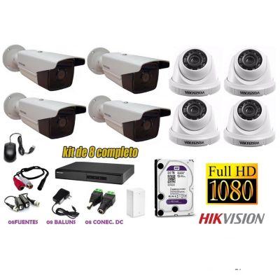 Kit 8 Cámaras de Seguridad Tubo IT3F Full HD 2TB P2P + Kit Microfono