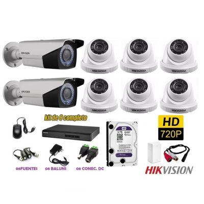 Kit 8 Cámaras de Seguridad Varifocal HD 1TB P2P + Kit Microfono