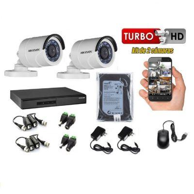 Kit 2 Cámaras de Seguridad HD  +  500GB