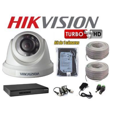 Kit 1 Cámaras de Seguridad Domo HD + 500GB Completo