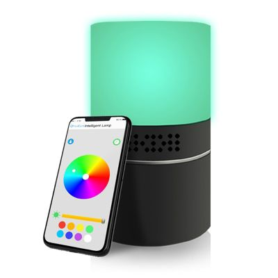 Cámara Full HD Lámpara Led Wifi Luces Colores