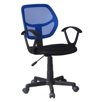 Silla de escritorio Avignon con brazos Azul/Negro