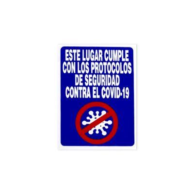 Señal de Seguridad Protocolos Anti Covid-19