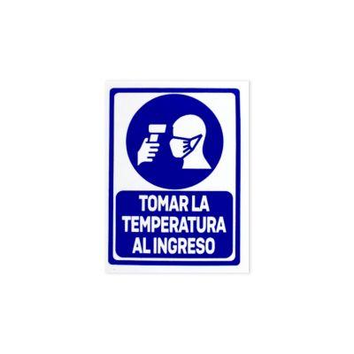 Señal de Seguridad Tomar Temperatura