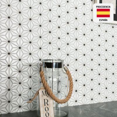 Mosaico Esmaltado Tech Tokyo White 29x30cm