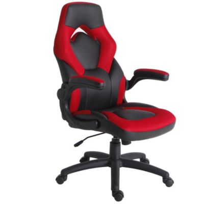 Silla Racing Brazo Abatible Rojo y Negro
