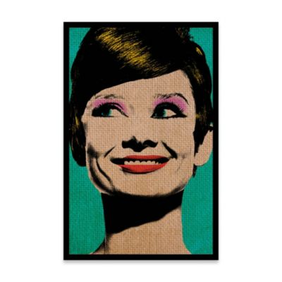 Cuadro Audery Hepburn 100x150 Marco Blanco