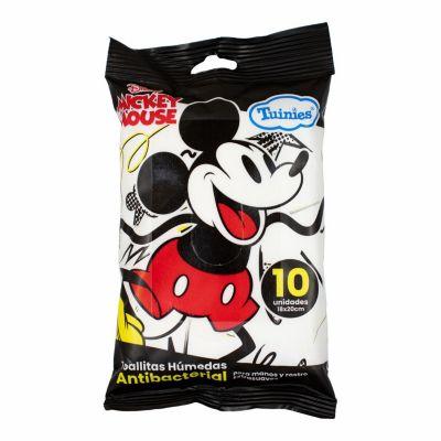 Toallitas Húmedas Antibacteriales Mickey 10 unidades